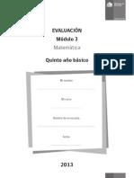 Evaluacion 5basico Modulo3 Matematica