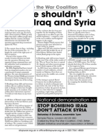Why We Shouldnt Bomb Iraq -  stw leaflet -  With  Demo