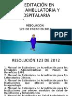 Resolucion 123 de 2012