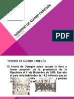 Gobierno de Álvaro Obregón