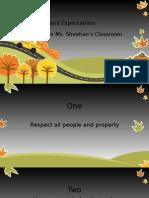 Nicole Sheehan Classroom Rules
