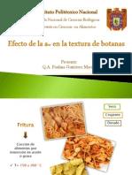 Efecto de La Aw en La Textura de Botanas