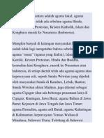 Agama Asli Nusantara Adalah Agama Lokal