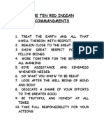 The Ten Red Indian Commandments
