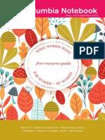 WebThe Columbia Notebook Fall 2014 - Winter 2015