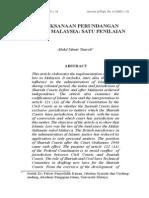 Pelaksanaan Perundangan Islam Di Malaysia