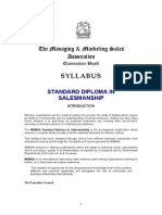MAMSA Syllable of Diploma in Salesmanship