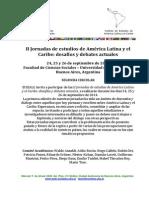 Jornadas IEALC 2014 Segunda Circular