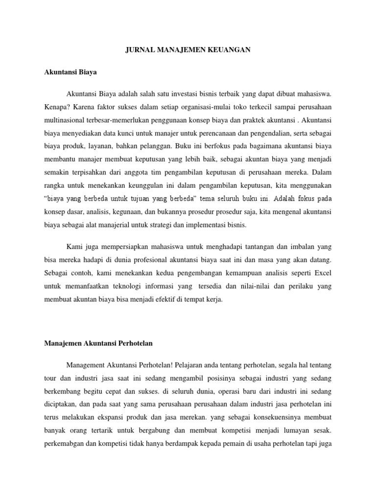 Jurnal Manajemen Keuangan Docx