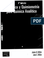 Estadistica y Quimiometria Para Quimica Analitica