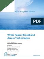White Paper Broadband Access Technologies