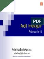 Tujuan Audit Investigatif