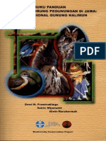 Buku panduan identifikasi burung pegunungan di kawasan taman nasional gunung halimun