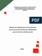Modelo Calidad Acreditacion Universitaria