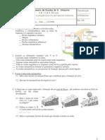 Ficha de avaliação de Ciências Naturais 8º Ano (rochas e paisagens; factores abióticos e bióticos)