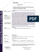 A Trends Analysis of Medical Male Circumcision for HIV Prevention in Eastern and Southern Africa