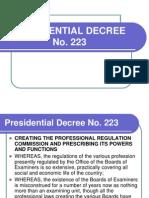 PD No 223
