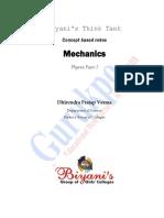 Mechanics( Physics Paper 1 B.sc I (for CORRECTION) (1)