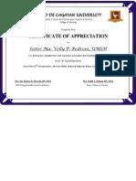 Certificate Recollection Speaker