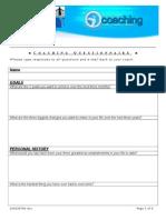 Coaching Questionnaire
