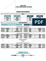 2014 FIBA World Championship for Women - Competition Schedule