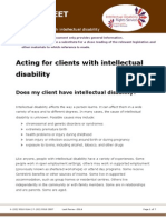 Factsheet for Lawyers Acting for Clients With Intellectual Disability