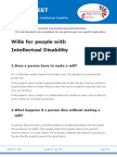 Factsheet- Wills for People With Intellectual Disability