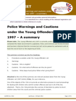Factsheet for Lawyers Cautions Under Young Offenders Act
