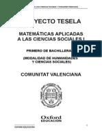 Programacion Tesela Matematicas Aplicadas a Las Ciencias Sociales 1 BACH Comunitat Valenciana (1)