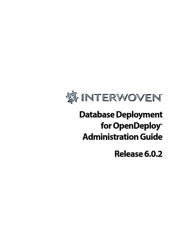 Database Deployment For Opendeploy Administration Guide
