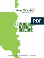 Commodity Report by Ways2Capital 30 Sep 2014