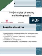 The principles of lending and lending basics
