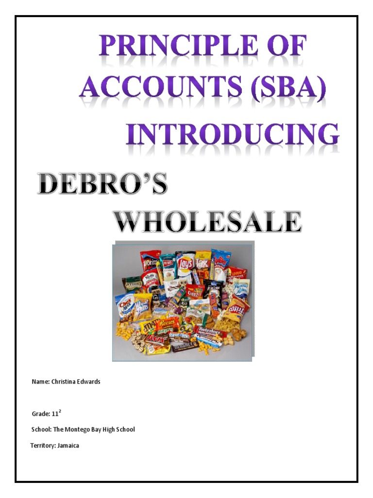 Principles of accounts sba.