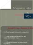 Admission in Indian
