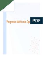 Matriks Dan Operasinya
