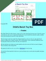 Bench - Child's Toy Box
