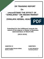 Report on Zimalya Pharmaceuticals