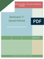 SEMINARIO 7 - LIPOPROTEINAS