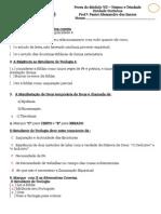 Prova Do Modulo III - Professor - Teismo e Trindade - CETADI Unidade Ourinhos