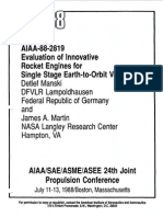 NASA - Evaluation of Innovative Rocket Engines for Single Stage Earth-To-Orbit Vehicles