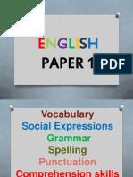 English Paper 1 UPSR