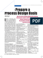 CHE Article_Best Practices - How to Prepare a Process Design Basis