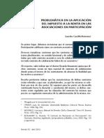 Próblematica en La Aplicación Del Impuesto a La Renta en La Asociación en Participación.