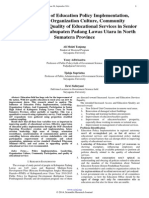 The Influence of Education Policy Implementation, Leadership, Organization Culture, Community Participation, on Quality of Educational Services in Senior High School of Kabupaten Padang Lawas Utara in North Sumatera Province