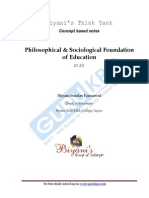 Philosophical & Sociological Foundation of Education