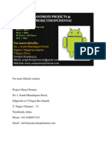 Latest  Android Projects for MCA/MSC