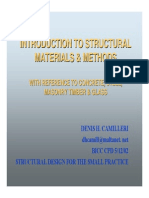 Structural Materials & Methods by Dh Camilleri