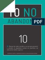 Manual de Redes Sociales y su uso para Prevenir y atender el Abandono Escolar en Planteles de Educación Media Superior