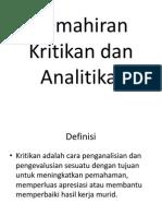 Kemahiran Kritikan Dan Analitikal