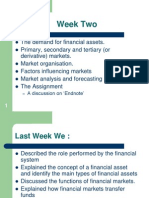 Financial Markets and Institutions Week 2 Slide
